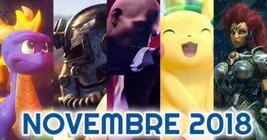 sorties jeux vidéo novembre 2018
