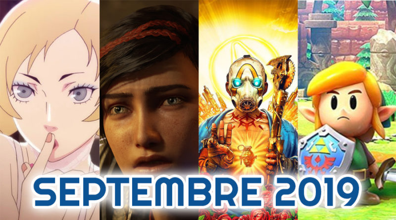 le calendrier des sorties septembre 2019
