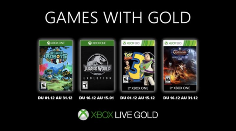games with gold décembre 2019