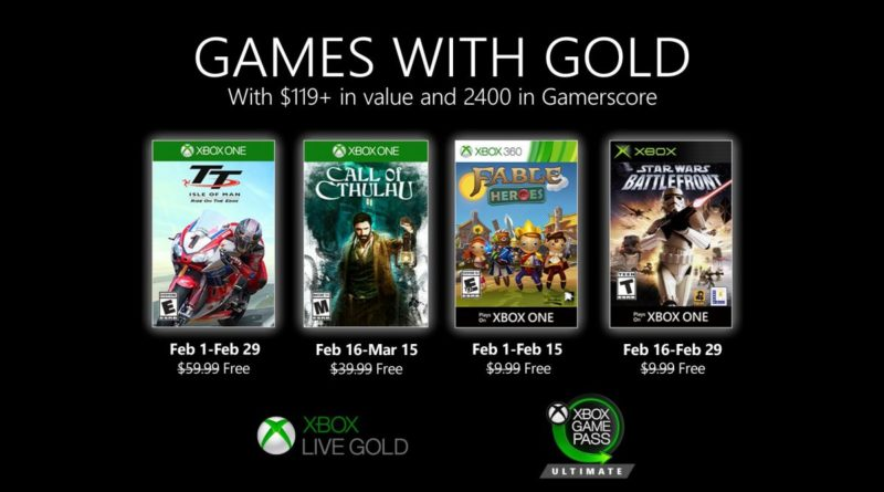 Games With Gold février 2020