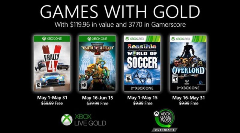 Games With Gold 05 2020